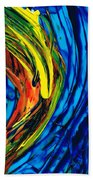 Colorful Abstract Art - Energy Flow 2 - By Sharon Cummings Beach Sheet