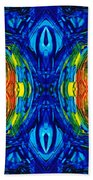 Colorful Abstract Art - Parallels - By Sharon Cummings  Beach Towel