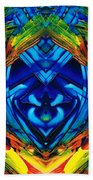 Colorful Abstract Art - Purrfection - By Sharon Cummings Beach Towel