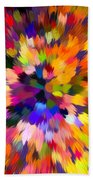 Colorful Abstract Background Beach Towel