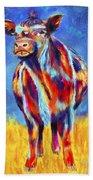 Colorful Angus Cow Beach Towel