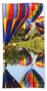 Colorful Balloons Fill The Frame Beach Towel