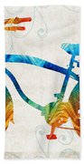Colorful Bike Art - Free Spirit - By Sharon Cummings Beach Towel