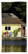 Colorful Boathouse Beach Towel