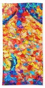 Colorful Bodyscape 1 Beach Towel