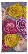 Colorful Bouquet Of Roses Beach Towel