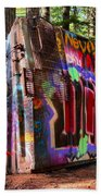 Colorful Box Car In The Forest Beach Towel