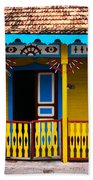 Colorful Building Beach Towel