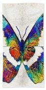 Colorful Butterfly Art By Sharon Cummings Beach Sheet