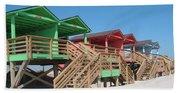 Colorful Cabanas Beach Towel