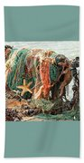 Colorful Catch - Starfish In Fishing Nets Square Beach Sheet