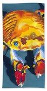 Colorful Crab Beach Towel