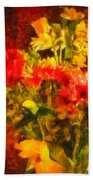 Colorful Cut Flowers - V2 Beach Towel