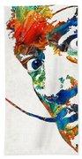 Colorful Dali Art By Sharon Cummings Beach Sheet