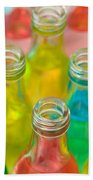 Colorful Drink Bottles Beach Towel