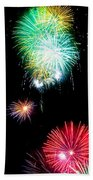 Colorful Explosions No3 Beach Towel