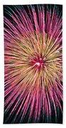 Colorful Fireworks Beach Towel