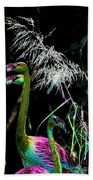 Colorful Flamingos Beach Towel