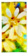 Colorful Floral Abstract - Digital Paint Beach Towel