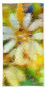 Colorful Floral Abstract II Beach Towel