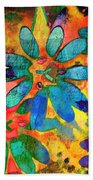 Colorful Floral Abstract IIi Beach Towel