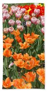 Colorful Flower Bed Beach Towel