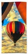 Colorful Framed Hot Air Balloon Beach Towel by Robert Bales
