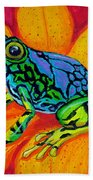 Colorful Frog Beach Towel