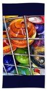 Colorful Glass Balls Beach Towel