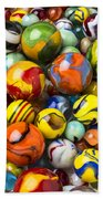 Colorful Glass Marbles Beach Towel