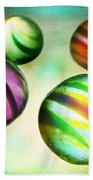Colorful Glass Marbles Beach Sheet