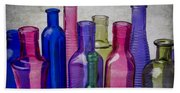 Colorful Group Of Bottles Beach Sheet