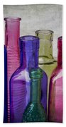 Colorful Group Of Bottles Beach Towel