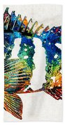 Colorful Grouper 2 Art Fish By Sharon Cummings Beach Towel