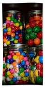 Colorful Gumballs Beach Towel by Paul Ward