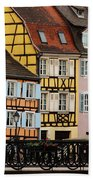 Colorful Homes Of La Petite Venise In Colmar France Beach Towel