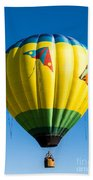 Colorful Hot Air Balloon Over Vermont Beach Towel