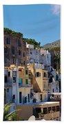 Colorful Houses In Capri Beach Towel