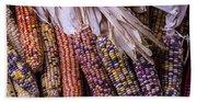 Colorful Indian Corn Beach Towel