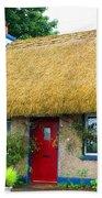 Colorful Irish Cottage Beach Towel