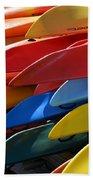 Colorful Kayaks Beach Towel