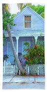 Colorful Key West Cottage Beach Towel
