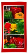 Colorful Kitchen Collage Beach Towel