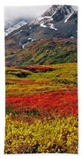 Colorful Land - Alaska Beach Towel