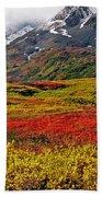 Colorful Land - Alaska Beach Towel
