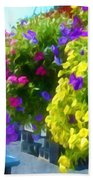 Colorful Large Hanging Flower Plants 1 Beach Towel