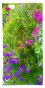 Colorful Large Hanging Flower Plants 3 Beach Towel
