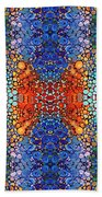 Colorful Layers Vertical - Abstract Art By Sharon Cummings Beach Towel by Sharon Cummings