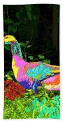 Colorful Lucy Goosey Beach Towel