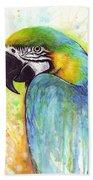 Macaw Painting Beach Sheet